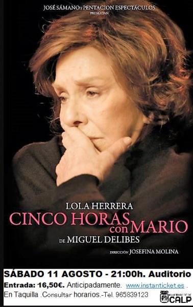 """Teatro """"Cinco horas con Mario"""""""