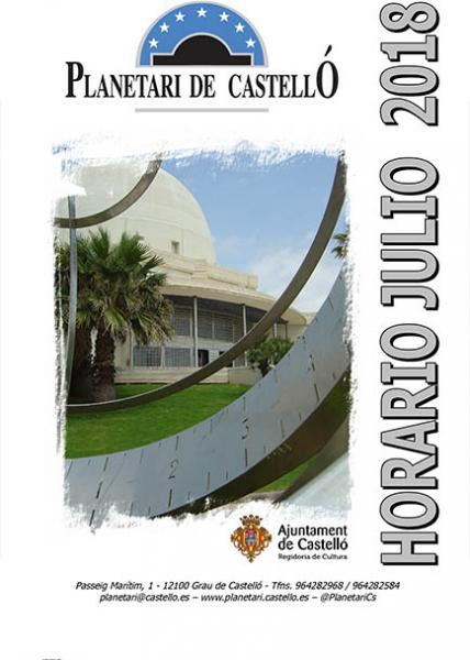 Programación del Planetario Grao de Castellón