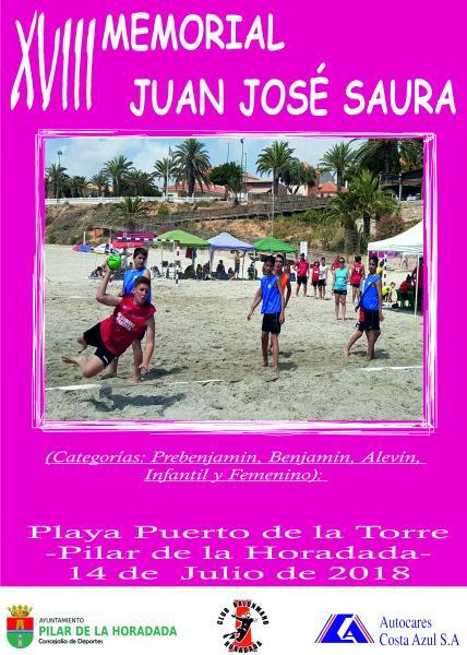 """Balonmano Playa """"XVIII Memorial Juan José Saura"""" en Pilar de la Horadada 2018"""