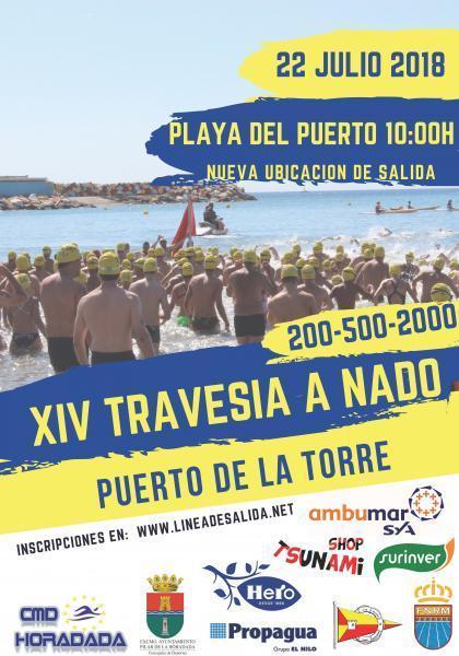 """XIV Travesía a Nado """"Puerto de la Torre"""" en Pilar de la Horadada 2018"""