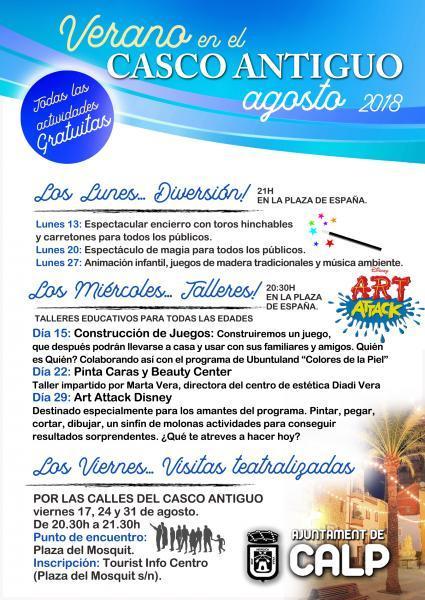 Verano por el Casco Antiguo Calp Agosto 2018