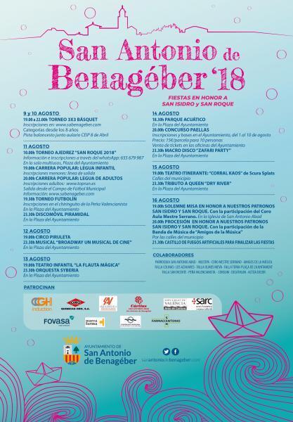 Programa de Fiestas San Antonio de Benagéber
