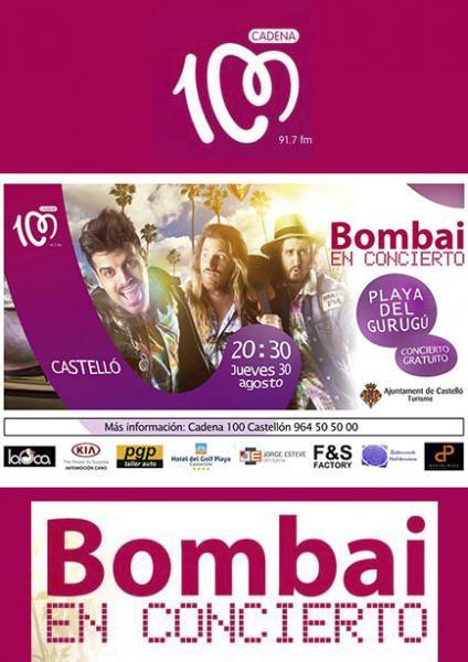 Concierto de Bombai en la Playa del Gurugú