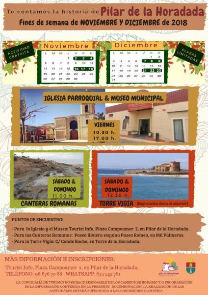 Fin de semana turístico; te contamos la historia de Pilar de la Horadada 2018