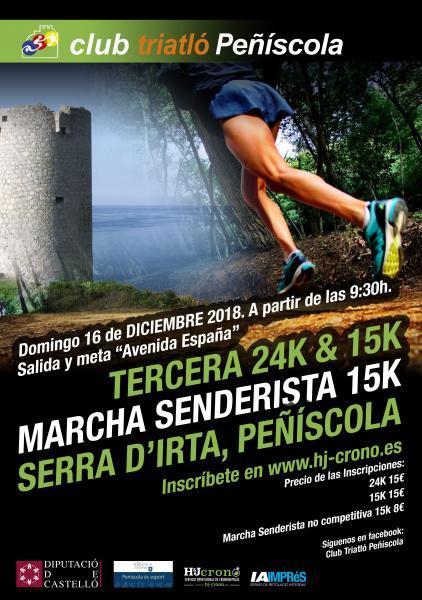 Tercera 24k & 15k Marcha Senderista 15k Serra d'Irta, Peñíscola