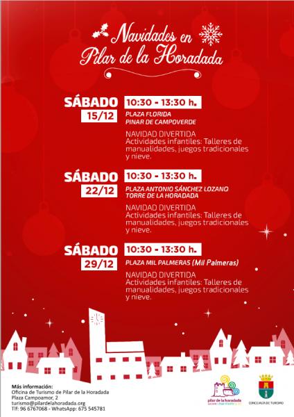Actividades navideñas infantiles en Pilar de la Horadada