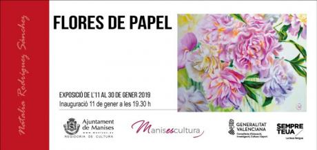"""Exposición """" Flores de Papel"""" Manises 2019"""