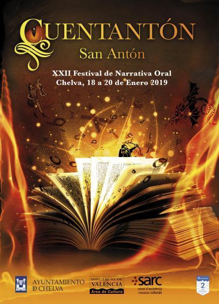 """XXII FESTIVAL DE NARRATIVA ORAL """"CUENTANTÓN"""" Chelva, 18,19 y 20,  enero, 2019"""