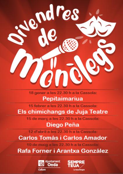 VIERNES DE MONÓLOGOS EN ONDA 2019
