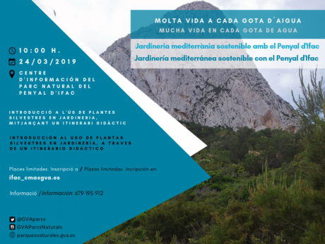 Jardinería Mediterránea sostenible con el Penyal D'Ifac