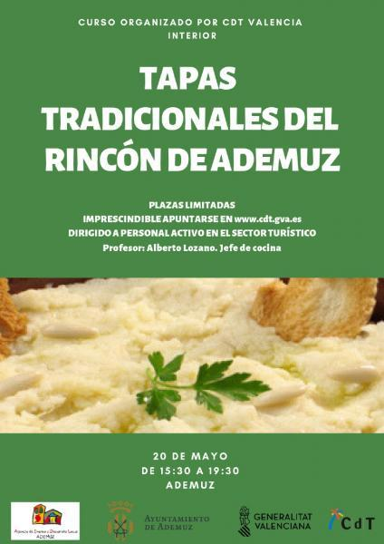 curso formativo TAPAS TRADICIONALES DEL RINCÓN DE ADEMUZ