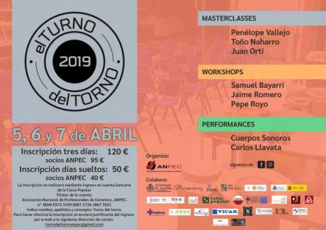 """III Encuentro Internacional de Cerámica de Manises """"El Turno del Torno 2019"""""""