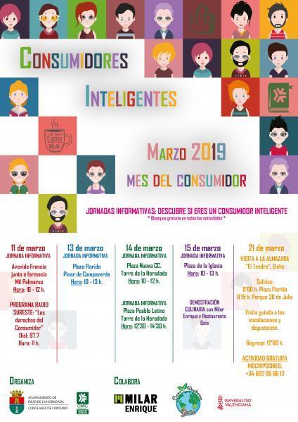 Consumidores Inteligentes. Marzo 2019 (Mes del Consumidor) Pilar de la Horadada