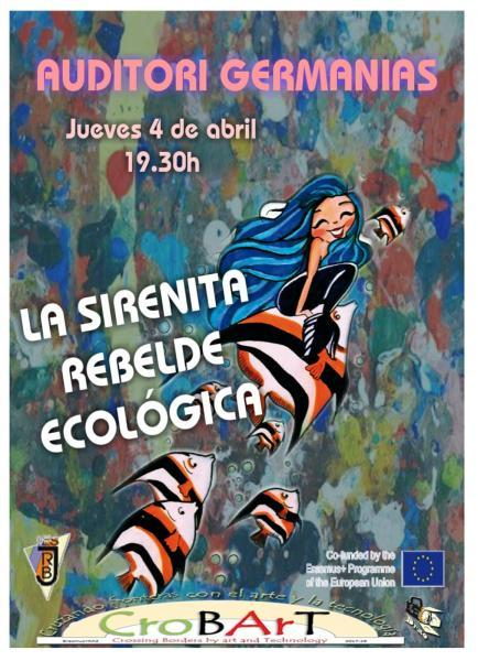 "Teatro Erasmus: "" La Sirenita Rebelde Ecológica"""