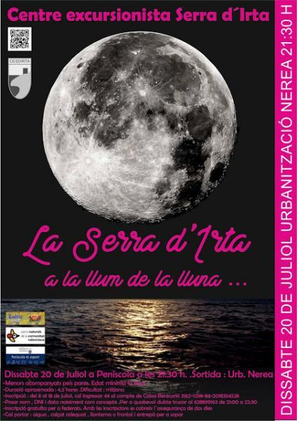 Excursión senderista Sierra de Irta a la luz de la luna - Peñíscola