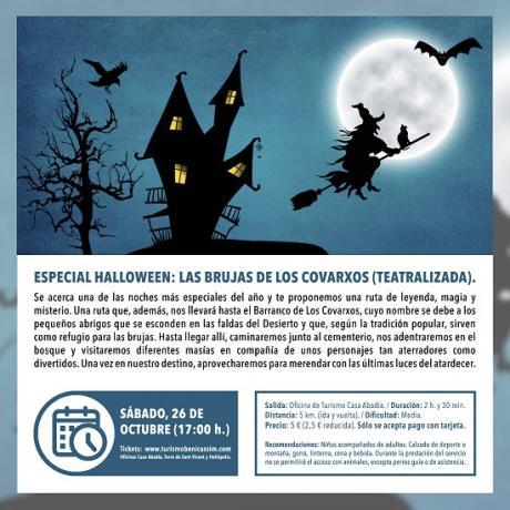 Programa oficial de visitas guiadas. Especial Halloween: Las brujas de los Covarxos (teatralizada).