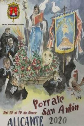 Fiestas del Porrate de San Antón Alicante 2020
