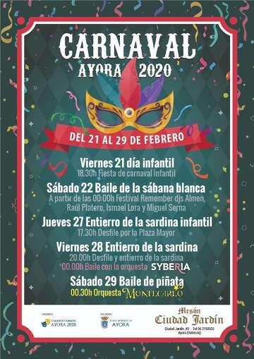 Carnavales Ayora del 21 al 29 de Febrero