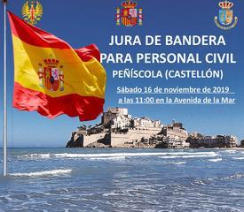 Jura de Bandera de Personal Civil en Peñíscola