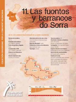 Ruta 11 Fuentes y barrancos Serra
