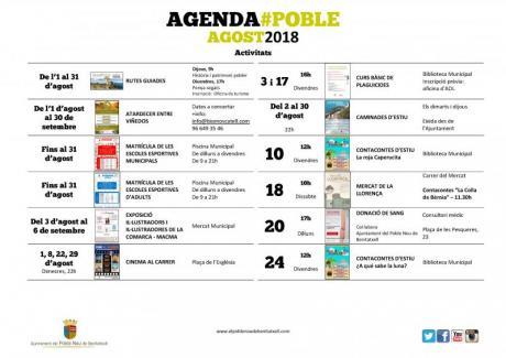 Agenda Agosto 2018