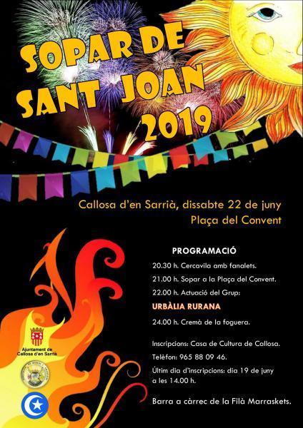 SOPAR DE SANT JONA 2019